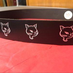 Rockabilly Kitty Cat Belt NWOT